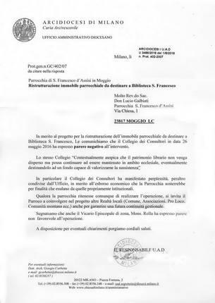 Comunicato Diocesi di Milano